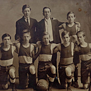 Calvary Baptist Church Norwich,NY Basketball Team Photo c. 1910