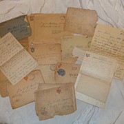 World War 1 Letters from France and Dog Tag Fred Hunter