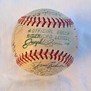 1969 New York Yankees Autographed Team Baseball