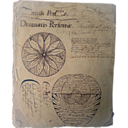 Fascinating  Revolutionary  War Folk Art American Diary  of Knowledge