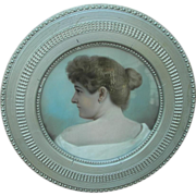 Portrait of Mrs. Arnoff Cincinnati,Ohio in Unusual  Victorian Circular Frame