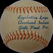 Gabe Paul Cleveland Indians League Baseball