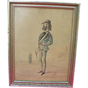 American Folk Painting of Mountain Man as Jim Dandy