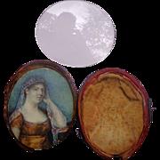 Georgian period Miniature Painting of Bride