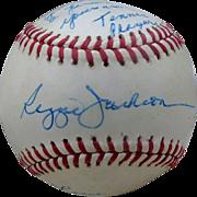 Reggie Jackson Personally Signed Baseball to Tennis Star Chris Evert