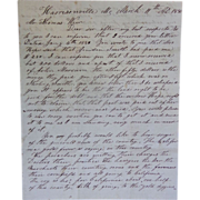 1850 Gold Rush Letter Cover Harrisonville,MO Jacksboro Campbell County T