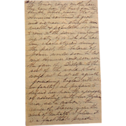 Civil War Letter from Canada Expressing Passionate Comments ~War Slavery & USA