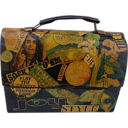 1968 Shabby Chick Hippie  decoupage Lunch Box