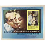 """16 mm Four Reel Film of The 1959  Movie """"In Middle of the Night"""" with Kim Novak"""
