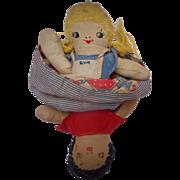 Topsy-Turvy Doll from Cuba c.1940's