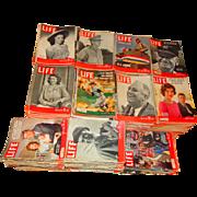 LIFE Magazine Collection 1937-1972 Ted Williams Mantle MacArthur Patton JFK Movie Stars