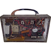 SALE PENDING Unique 1950's Transistor Radio Prototype Showing Componets