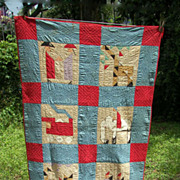 SOLD Wonderful Kentucky Child's Quilt Dated & Signed August 10 1928