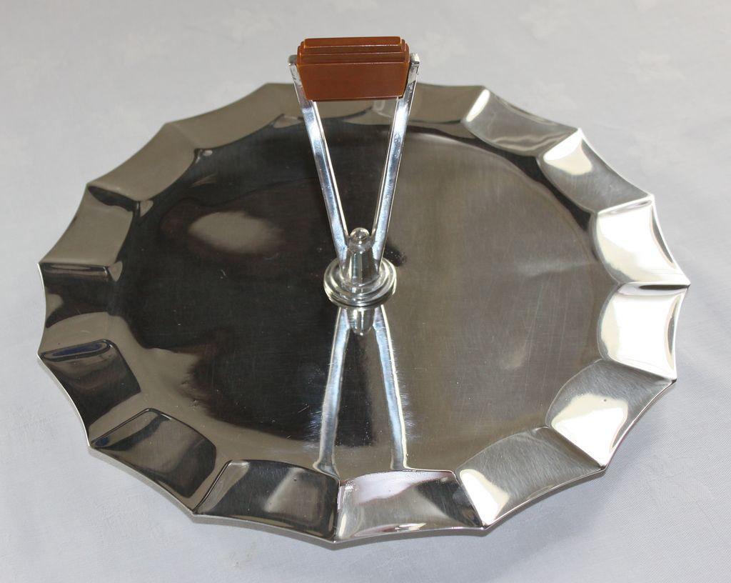 Art Deco Silverplate Handled Cake/Sandwich Tray C. 1920's