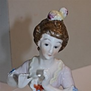 Large Half Doll, 18th Century woman, arms extended
