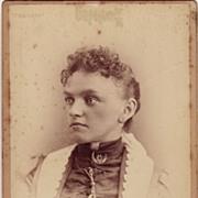 Cabinet Photograph C. 1880 Portrait of a Woman