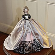 Early 20th Century Half Doll Boudoir night Light.