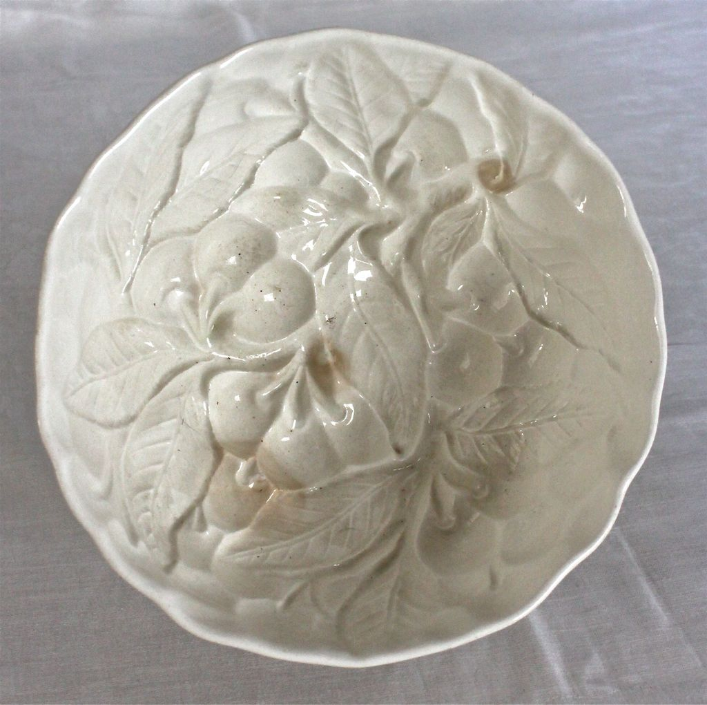"Vintage Ceramic Food Mold ""Cherries"" Design"