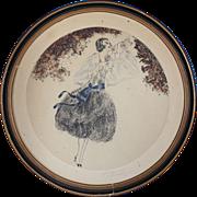 French Art Deco Lithograph Circa 1925 Signed Degouy