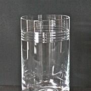1980's Contemporary Lenox crystal vase