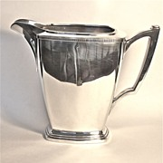 "Wallace Bros. Art Deco Water Pitcher ""Mode"" pattern circa 1930"