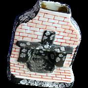 Rare Old Made in Japan Figural Fireplace Incense Burner
