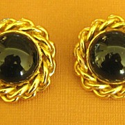 Bold Sophisticated Vintage Ciner Clip Style Earrings