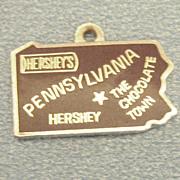 Vintage Hershey's Brown Enamel Pennsylvania State Charm