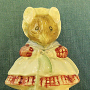 """Darling Vintage English Porcelain Figurine """"The Old Woman Who Lived in a Shoe"""" Beatrix Potter= Royal Albert"""
