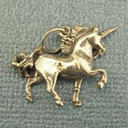Adorable Vintage Sterling Silver Unicorn Charm
