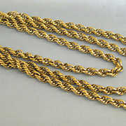 Fabulous Vintage Thick Fancy Chain Sautoir Necklace- 54 Inches