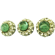 Beautiful 1940's Glass and Rhinestone Buttons