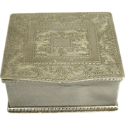 Vintage English Sheffield Silver Plate Cedar Lined Box
