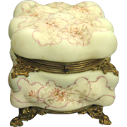 Large Wave Crest Egg Crate Dresser Box with Ormolu