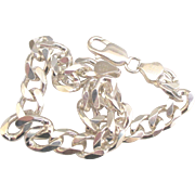 Chunky Italian Sterling Curb Link Bracelet