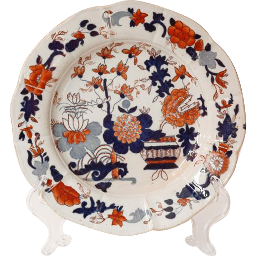 """Mason's Patent Ironstone Lobed Dish, """"Japan"""" Pattern (1813-15)"""