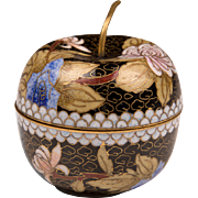 Vintage Japanese Cloisonne Apple Box