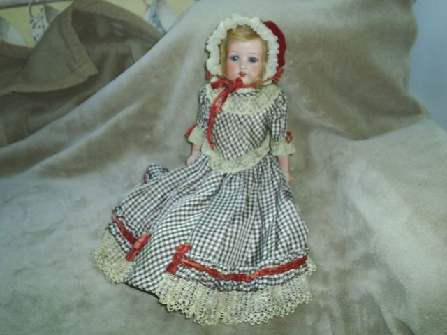 "Antique German 14"" ShHd Cabinet Doll"