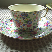 Royal Winton 'Old Cottage Chintz' cup & saucer