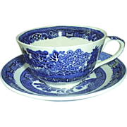 Blue Willow Cup & Saucer, England