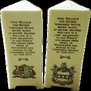 Goss Crested Ware, King William II monoliths