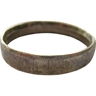 Silver 835 WWI 1918 Trench Art Band Ring France