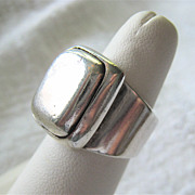Heavy Sterling Silver 925 Ring Traditional Look Unisex