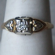 Beautiful 14k Gold and Diamond Ring