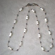 Gorgeous Cultured Fresh Water Double Pearl Necklace