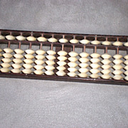 Fun Asian Bamboo and Bone Abacus