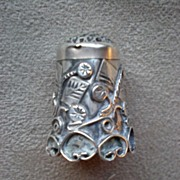 Fabulous Mexican Sterling Silver Thimble
