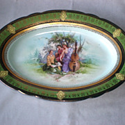 Stunning Antique Royal Vienna Porcelain Platter