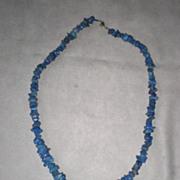 Beautiful Tumbled Natural Lapis Necklace
