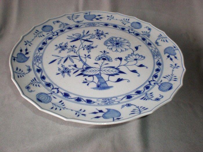 "Magnificent Meissen ""Blue Onion"" 13"" Cake Stand"